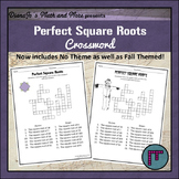8th Grade Math Perfect Square Roots Crossword Puzzle