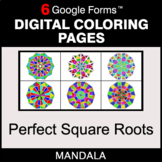 Perfect Square Roots - Digital Mandala Coloring Pages | Go