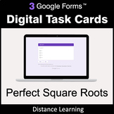 Perfect Square Roots - Google Forms Digital Task Cards | D