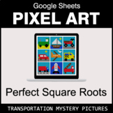 Perfect Square Roots - Google Sheets Pixel Art - Transportation