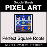 Perfect Square Roots - Google Sheets Pixel Art - Winter