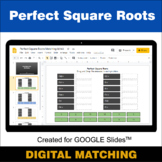 Perfect Square Roots - Google Slides - Distance Learning -