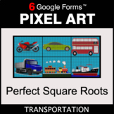 Perfect Square Roots - Pixel Art Math | Google Forms