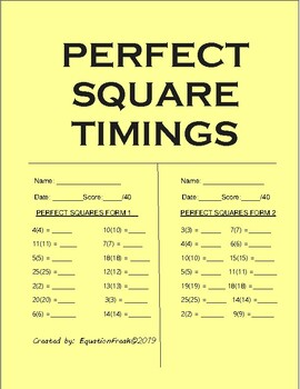 Perfect Square Timings
