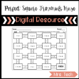 Perfect Square Trinomials Maze Activity Digital Resource
