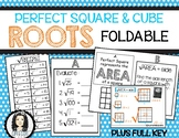 Perfect Square and Cube Roots Interactive Notebook Foldable