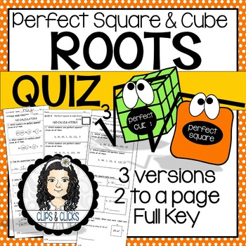 Perfect Square and Cube Roots QUIZ