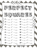 Perfect Squares Chart