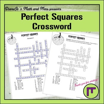 8th Grade Math Perfect Squares