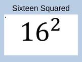 Perfect Squares & Perfect Cube Practice