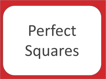 Perfect Squares Posters