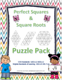 Perfect Squares & Square Roots Puzzle Pack