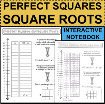 Perfect Squares & Square Roots 1-20 NOTES Student Activity Center Math