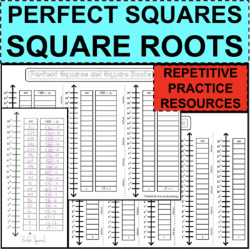 Perfect Squares & Square Roots 1-20 Repetitive PRACTICE Student Activity Center