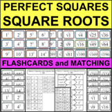 PERFECT SQUARES & SQUARE ROOTS 1-400 Differentiated Sort Matching Flashcards
