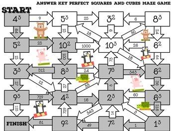 Exponents Activity (Maze)