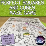 Perfect Square and Cubes Exponents Activity (Maze)
