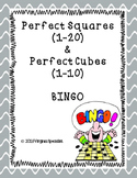 Perfect Squares and Perfect Cubes Bingo Game