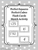 Perfect Squares and Perfect Cubes Flash Cards 8.EE.2