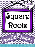 Perfect Squares and Square Roots Doodle Notes