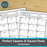 Perfect Squares and Square Roots Math No Prep Review Works