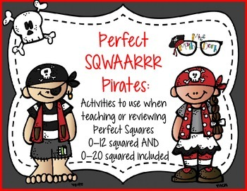 Perfect Sqwaaar Pirates: perfect for review or practice of perfect squares