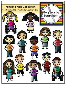 Perfect T Kids Collection Clipart - Kids Graphics