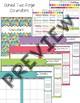 Editable Rainbow Teacher Planner