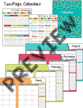 Editable Teacher Planner - Turquoise Dots