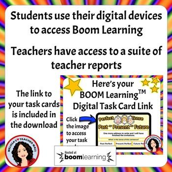 Perfect Tense Boom Cards Digital Task Cards