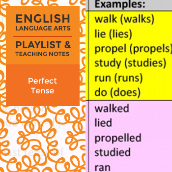 Perfect Tense - Playlist and Teaching Notes