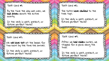 Perfect Tense Verb Task Cards
