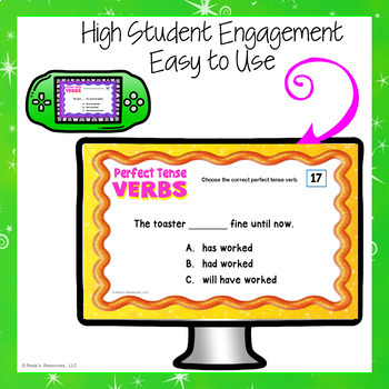 Perfect Tense Verbs Digital Task Cards for Google Drive