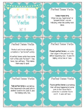 Perfect Tense Verbs (L.5.1b) Task Cards