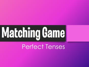 Spanish Perfect Tenses Matching Game