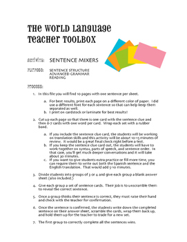 Spanish Perfect Tenses Sentence Mixer