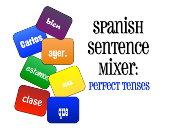 Spanish Perfect Tenses Sentence Mixer