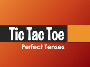 Spanish Perfect Tenses Tic Tac Toe Partner Game
