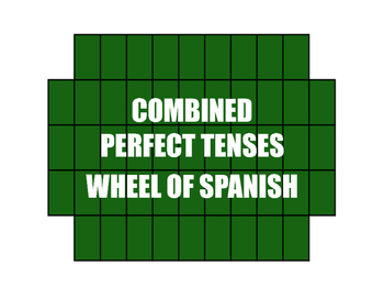 Spanish Perfect Tenses Wheel of Spanish