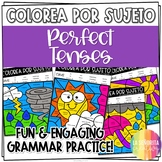 Perfect Tenses Worksheets - Spanish verb coloring activity