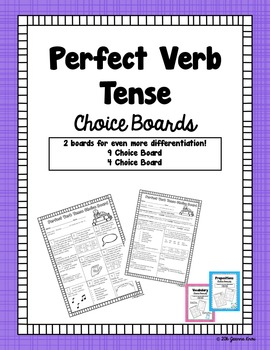 Perfect Verb Tense Choice Boards