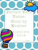 Perfect Verb Tense Color by Number