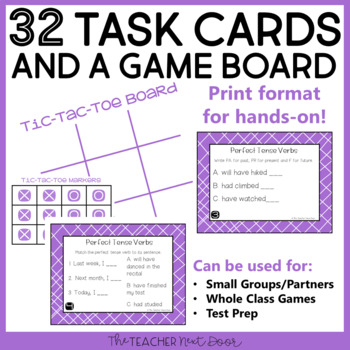 Perfect Tense Verb Game | Perfect Tense Verb Center Activity
