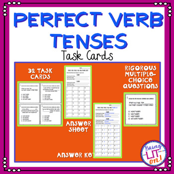 Perfect Verb Tense Task Cards