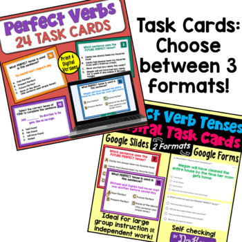 Perfect Verb Tenses: A Bundle of Activities