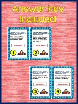 Perfect Verb Tenses Interactive Notebook Google Drive Activities L.5.1.B