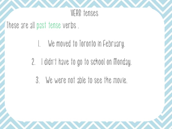 Perfect Verbs and Tenses