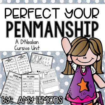 Perfect Your Penmanship {A D'Nealian Cursive Handwriting Unit}