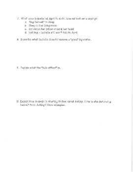 Perfect by Natasha Friend Chapter Assessments and Final Test