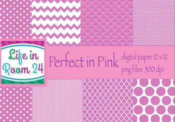 Perfect in Pink (12x12 Digital Paper Pack)
